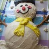 Easy Buttercream Frosting and Frosty the Snowman Cake