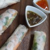 Summer Rolls with Lemon Ginger Poached Chicken