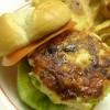Cheddar and Green Onion Chicken Burgers
